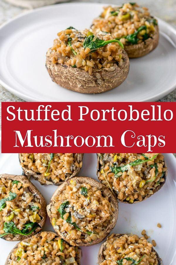 Stuffed Portobello Mushroom Caps for Pinterest