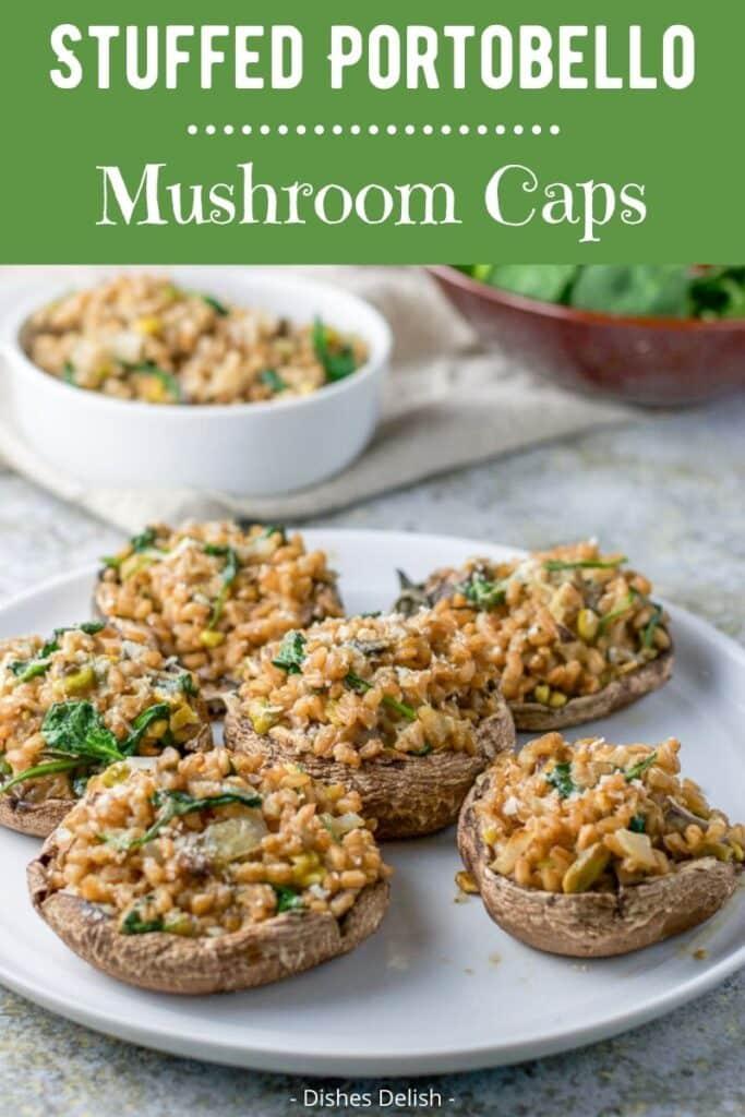 Stuffed Portobello Mushroom Caps for Pinterest 3