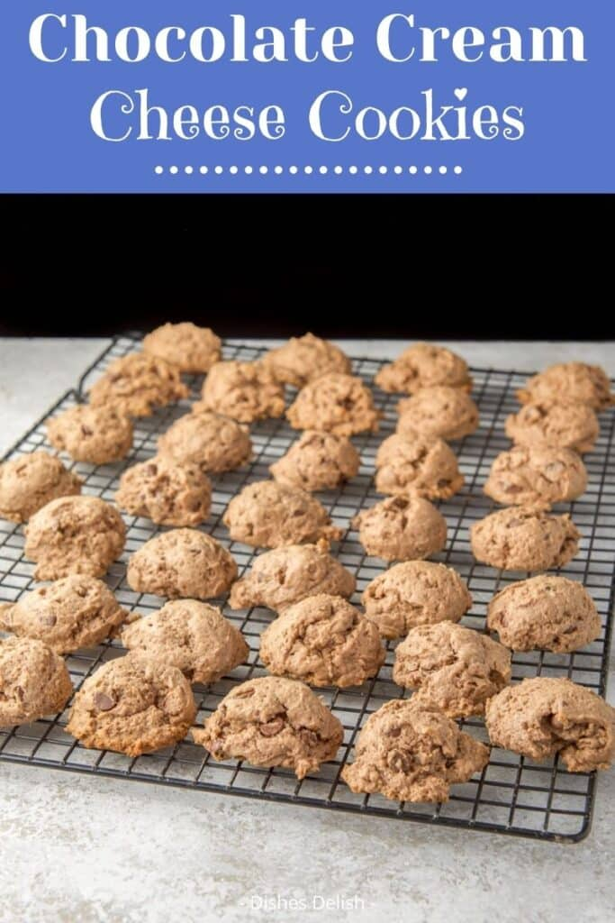 Chocolate Cream Cheese Cookies for Pinterest 2