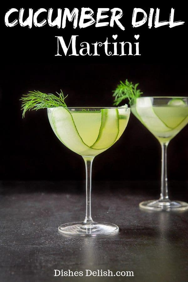 Cucumber Dill Martini for Pinterest