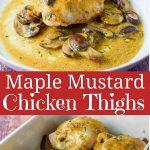 Maple Mustard Chicken Thighs for Pinterest 2