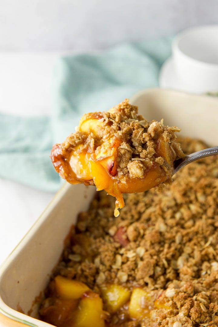 A big spoonful of peach crisp recipe