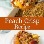 Peach Crisp Recipe for Pinterest
