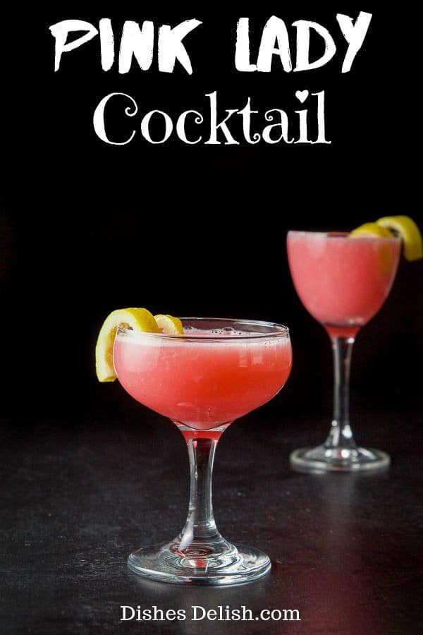 Pink Lady Cocktail for Pinterest