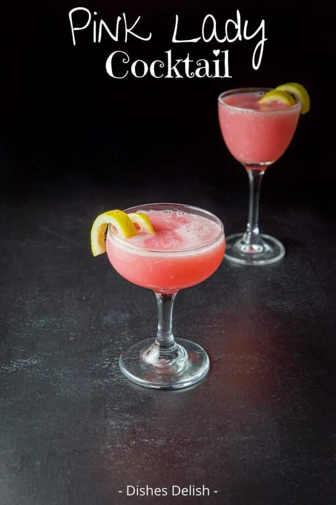 Pink Lady Cocktail for Pinterest 2
