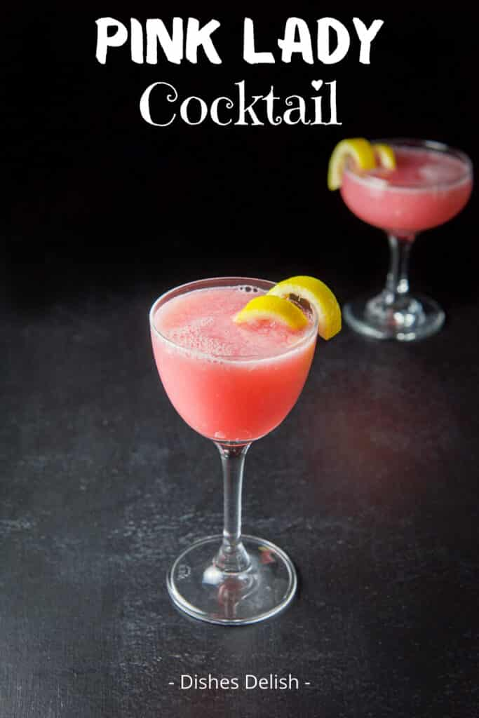 Pink Lady Cocktail for Pinterest 3