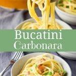 Bucatini Carbonara for Pinterest