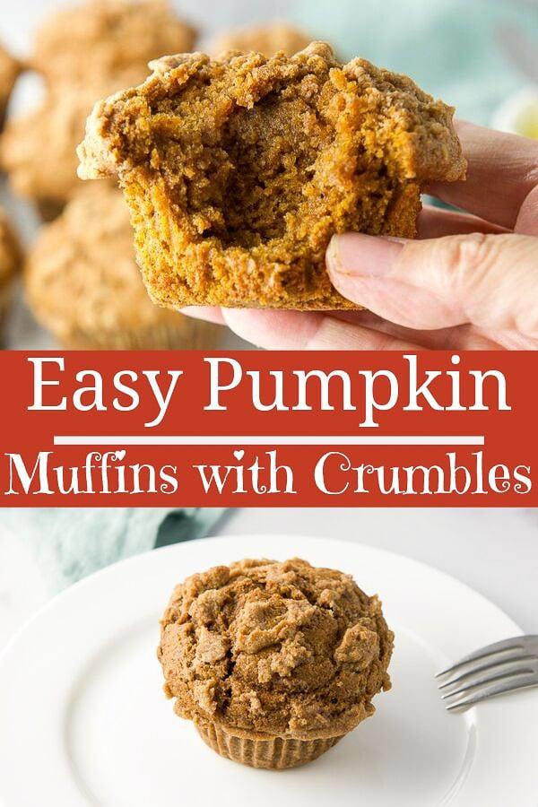 Easy Pumpkin Muffins for Pinterest