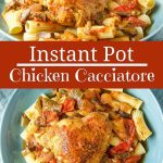 Instant Pot Chicken Cacciatore for Pinterest