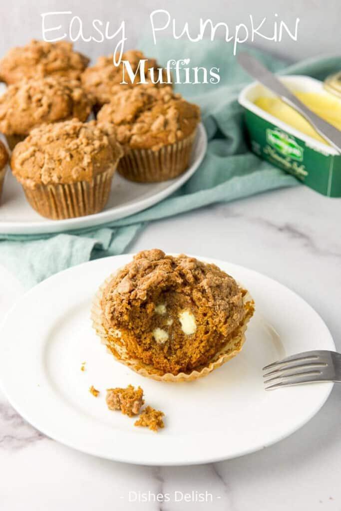 Easy Pumpkin Muffins for Pinterest 3