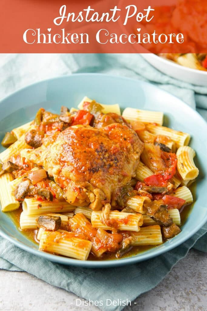 Instant Pot Chicken Cacciatore for Pinterest 3
