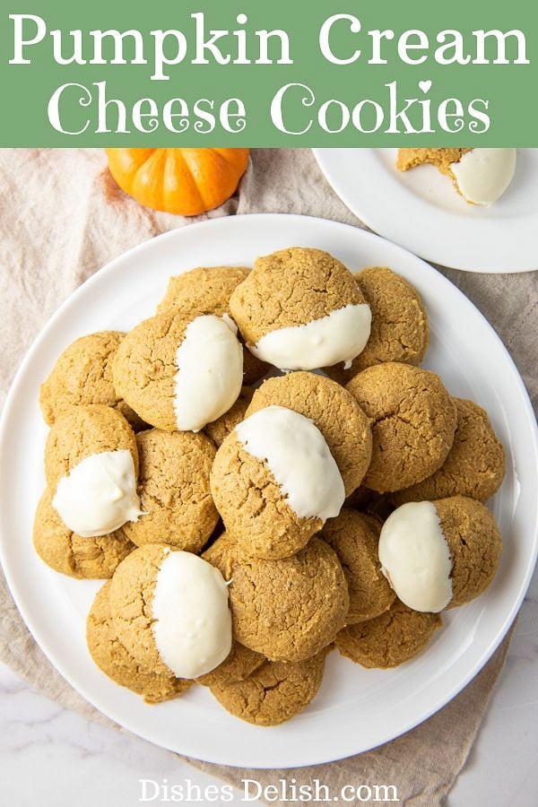 Pumpkin Cream Cheese Cookies for Pinterest