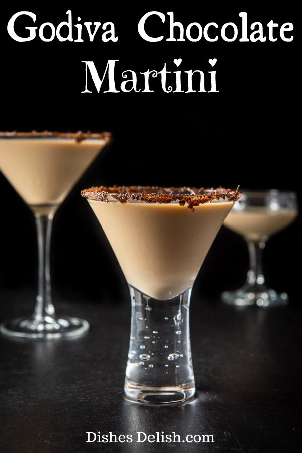 Godiva Chocolate Martini for Pinterest