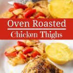 Oven Roasted Chicken Thighs for Pinterest