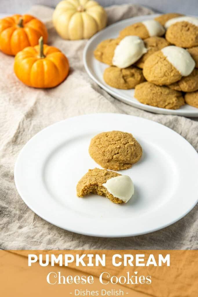 Pumpkin Cream Cheese Cookies for Pinterest 2