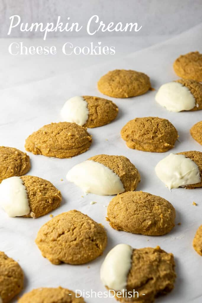 Pumpkin Cream Cheese Cookies for Pinterest 4