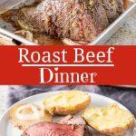Roast Beef Dinner for Pinterest