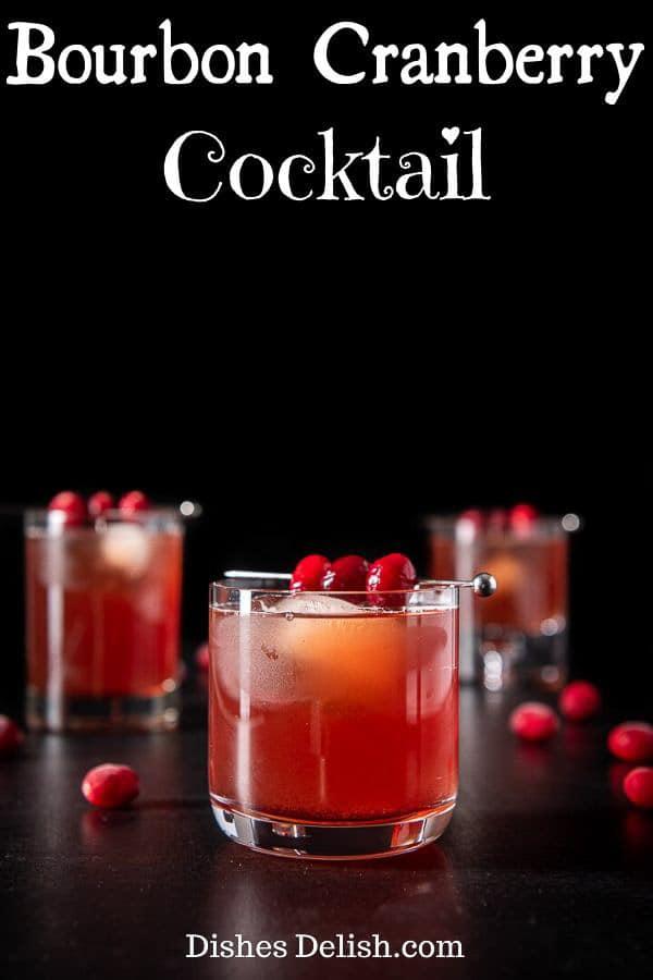 Bourbon Cranberry Cocktail for Pinterest