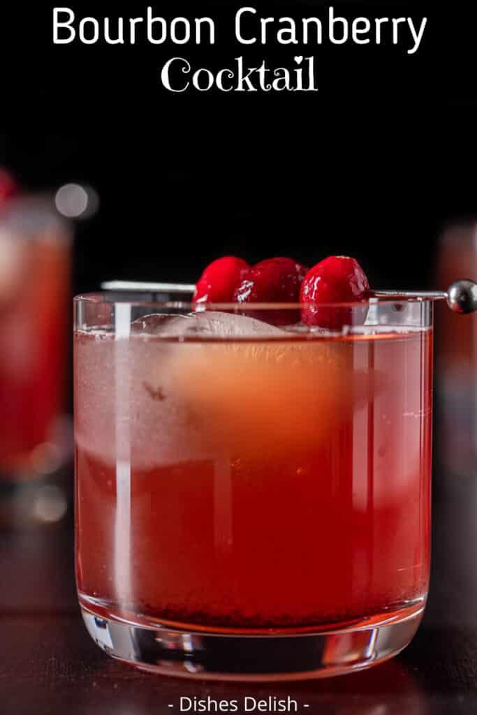 Bourbon Cranberry Cocktail for Pinterest 2