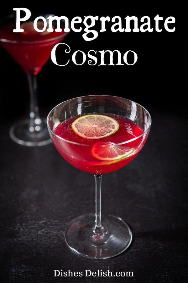 Pomegranate Cosmo for Pinterest