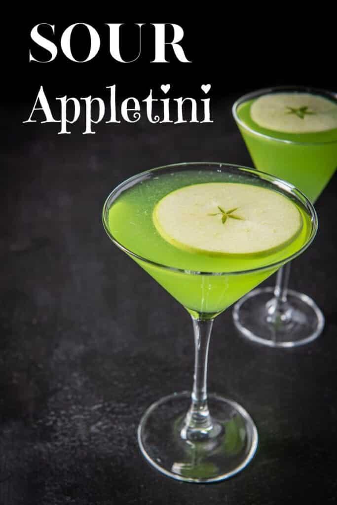 Sour Appletini Cocktail for Pinterest 2