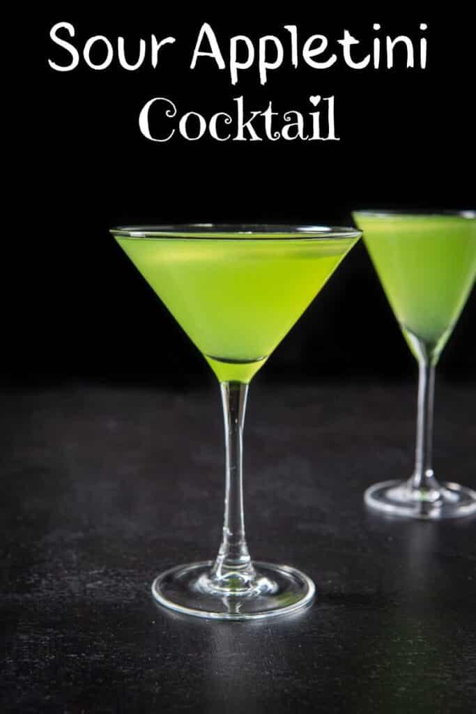Sour Appletini Cocktail for Pinterest 3