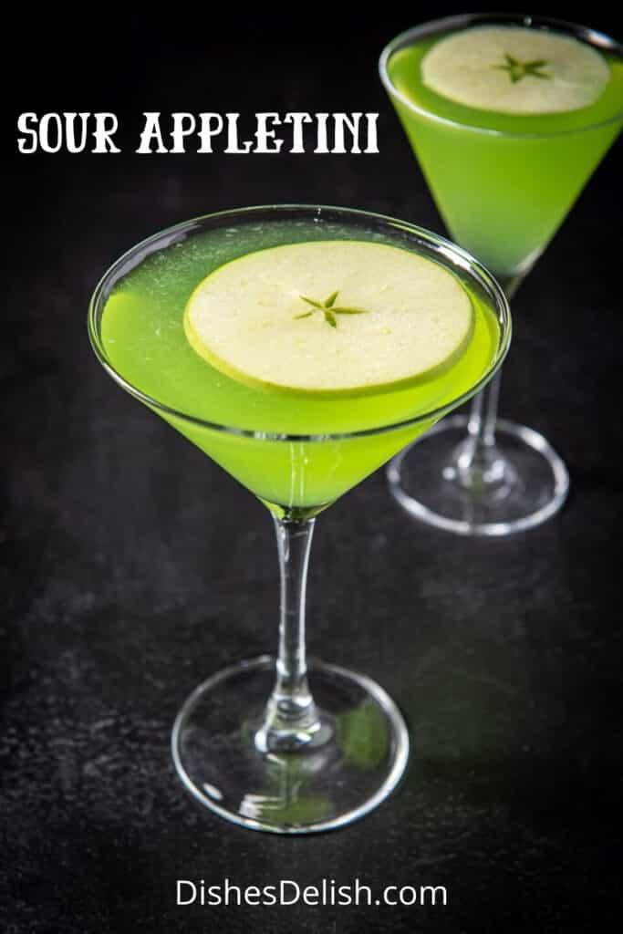 Sour Appletini Cocktail for Pinterest 4
