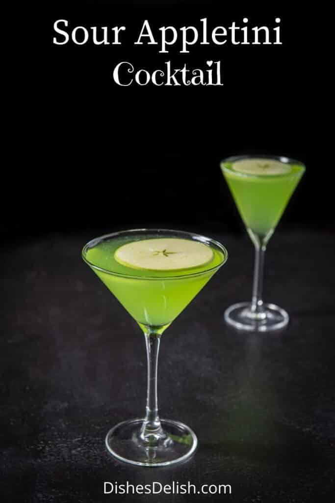 Sour Appletini Cocktail for Pinterest 5