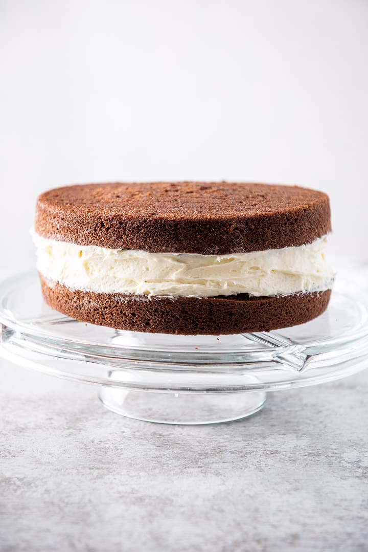 Vertical view of the whoopie pie cake