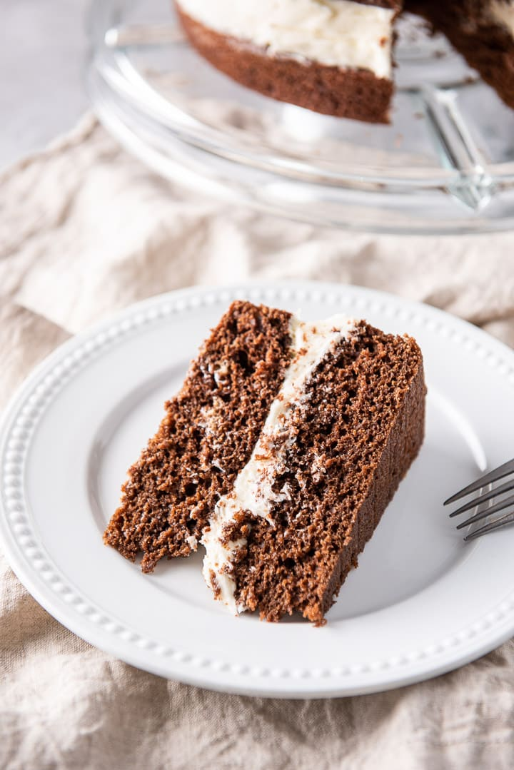Whoopie pie cake on the white plate