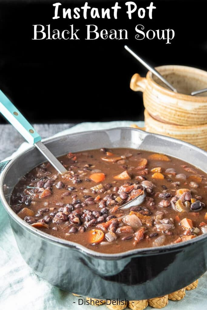 Instant Pot Black Bean Soup for Pinterest 3