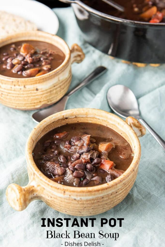 Instant Pot Black Bean Soup for Pinterest 5
