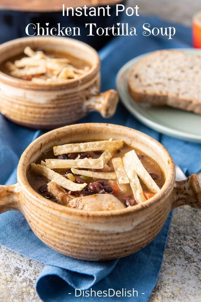 Instant Pot Chicken Tortilla Soup for Pinterest 5