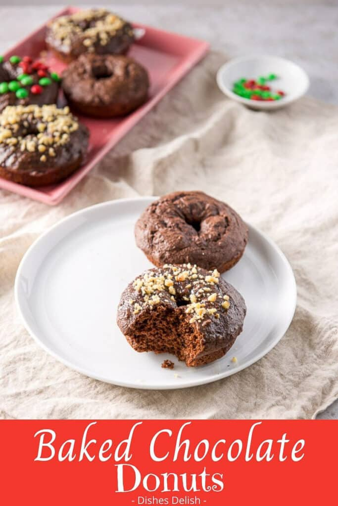 Baked Chocolate Donuts for Pinterest 3