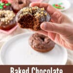 Baked Chocolate Donuts for Pinterest 4