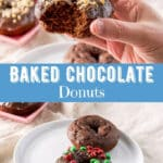 Baked Chocolate Donuts for Pinterest 5