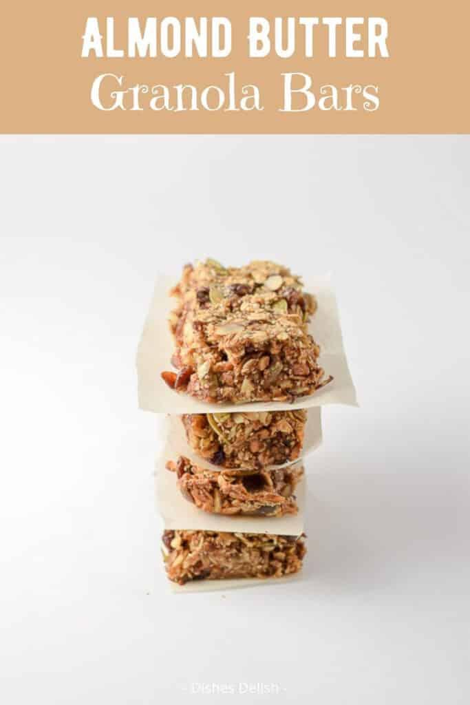 Almond Butter Granola Bars for Pinterest 2