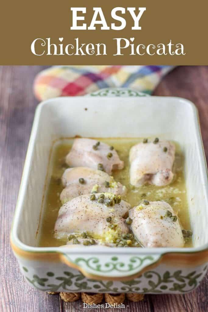 Easy Chicken Piccata for Pinterest 3