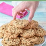Oatmeal raisin cookies for Pinterest 2