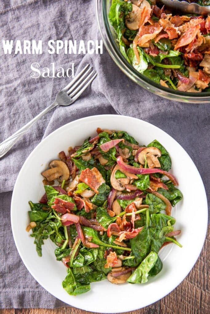 Warm Spinach Salad for Pinterest 3