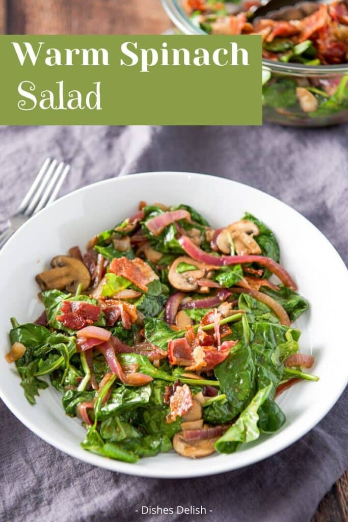 Warm Spinach Salad for Pinterest 4