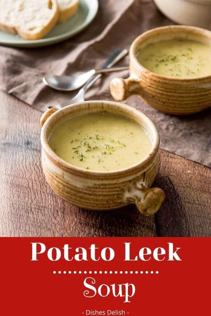 Instant Pot Potato Leek Soup for Pinterest 1