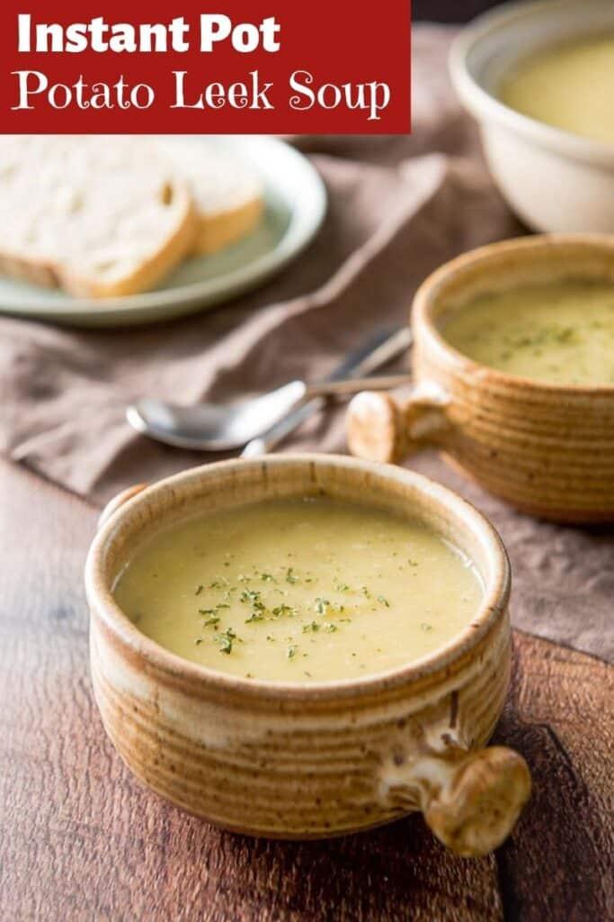 Instant Pot Potato Leek Soup for Pinterest 5
