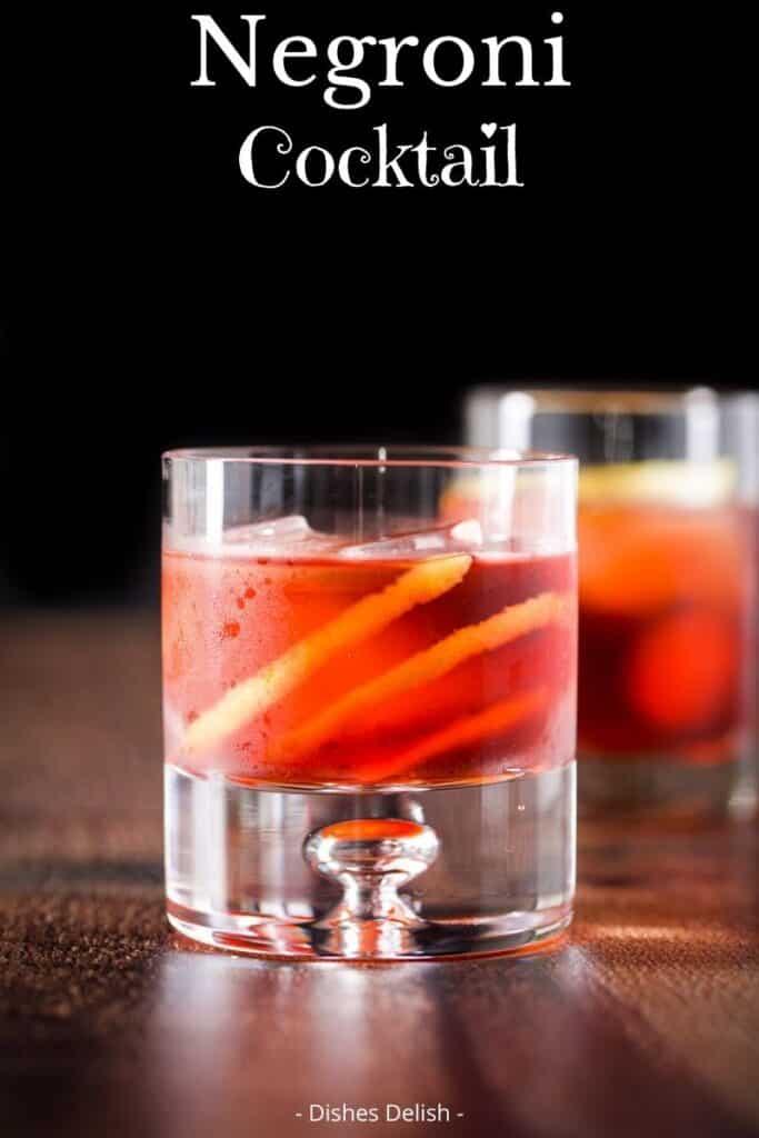 Negroni Cocktail Recipe for Pinterest 2