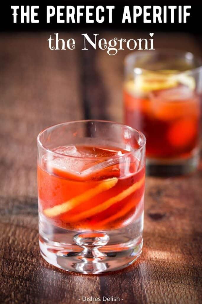 Negroni Cocktail Recipe for Pinterest 3