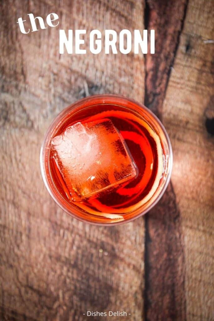 Negroni Cocktail Recipe for Pinterest 4