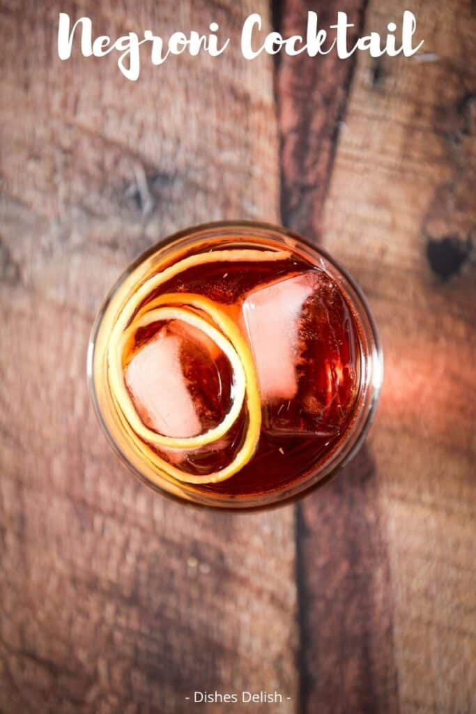Negroni Cocktail Recipe for Pinterest 5