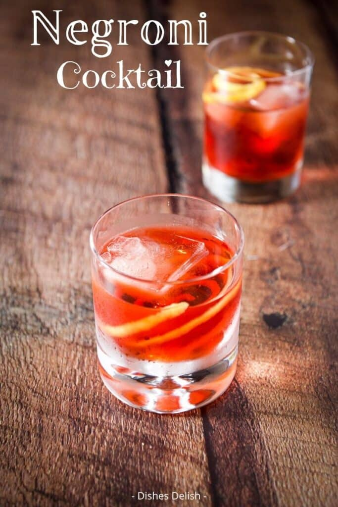 Negroni Cocktail Recipe for Pinterest 6