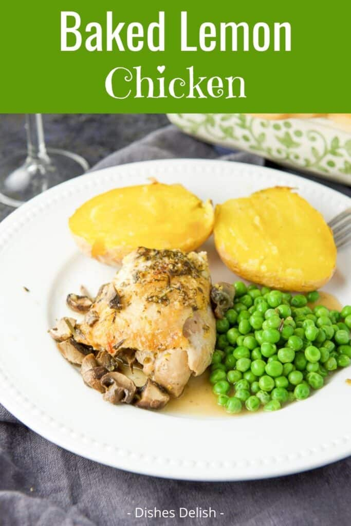 Baked Lemon Chicken Thighs for Pinterest 4