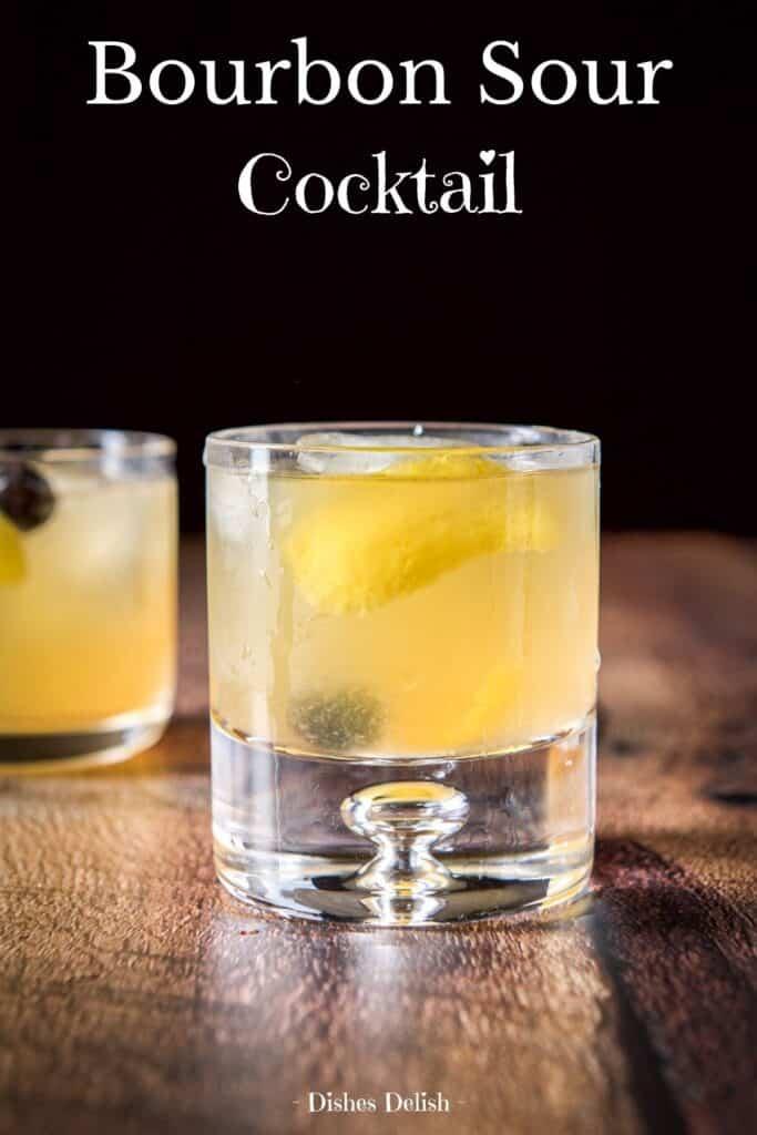 Bourbon Sour Cocktail for Pinterest 1